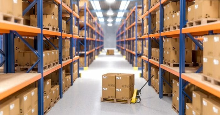 storing items in a warehouse