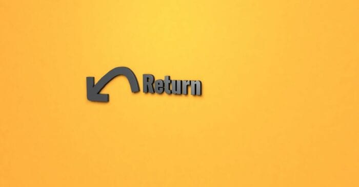 sign representing product returns